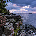 Vermont Lake Champlain Sunset Clouds Shoreline by Andy Gimino