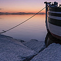 Vermont Lake Champlain Sunset Nautical Boat  by Andy Gimino