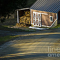 Vermont Maple Sugar Shack Sunset by Edward Fielding