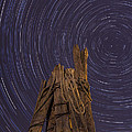 Vermont Night Star Trail Wood Pier by Andy Gimino