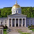 Vermont State Capitol In Montpelier  by Olivier Le Queinec