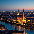 Verona At Sunset by Matteo Colombo