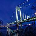 Verrazano-narrows Bridge At Night by Saurav Pandey