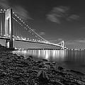 Verrazano-narrows Bridge Bw by Valeriy Shvetsov