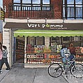 Vert Pomme  Fruiterie Meloche Et Fille by Reb Frost
