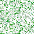 Vertical Panoramic Grunge Etching Sage Color by Joseph Baril