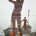 Veruschka Von Lehndorff Wearing Jumpsuit by Louis Faurer