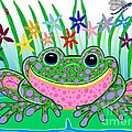 Very Happy Spotted Frog by Nick Gustafson