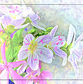 Very Tiny Wildflower Boquet Digital Paint by Debbie Portwood