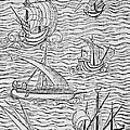 Vessels Of Early Spanish Navigators From The Narrative And Critical History Of American by English School