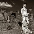 Vestal Virgin Courtyard Statue by Michael Kirk