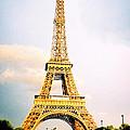 Vibrant Eiffel Tower by Bobby Uzdavines