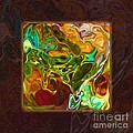 Vibrant Fall Colors An Abstract Painting by Omaste Witkowski