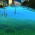 Vibrant Reflections -water - Blue by Barbara Griffin