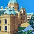 Victoria Bc Parliament by Nel Kwiatkowska