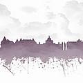 Victoria British Columbia Skyline - Purple 03 by Aged Pixel