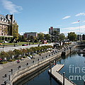 Victoria Harbour With Empress Hotel by Carol Groenen