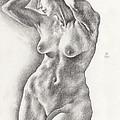 Victoria In 8b Standing Female Nude by Scott Kirkman