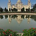 Victoria Memorial Kolkata India - Reflection On Water by Rudra Narayan  Mitra