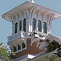 Victorian Belveder Mansion Detail Galena Illinois by Robert Birkenes