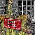 Victorian Boat Dock Sign by Adrian Evans