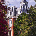 Victorian Home In Autumn Photograph As Gift For The Holidays Print by Jerry Cowart