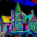 Victorian House Pop Art by Phyllis Denton
