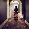 Victorian Lady In Hallway by Jill Battaglia