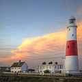 Victorian Lighthouse At Sunset by Matthew Gibson