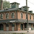 Victorian Train Station Galena Illinois by Robert Birkenes