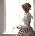 Victorian Woman In Profile At A Window by Lee Avison