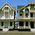Victorians At Ocean Grove New Jersey by Ira Shander