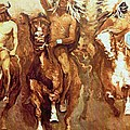 Victory Dance Detail by Frederic Remington