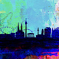 Vienna Watercolor Skyline by Naxart Studio