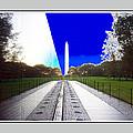 Viet Nam Memorial And Obelisk by Joe Paradis