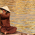 Vietnamese Boatman 01 by Rick Piper Photography