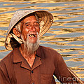 Vietnamese Boatman 02 by Rick Piper Photography