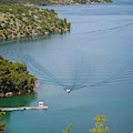 View Down From Sibenik Or Krka Bridge by Panoramic Images