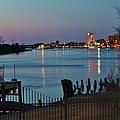 View Down On The River by Cynthia Guinn