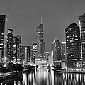 View Down The Chicago River by Frozen in Time Fine Art Photography