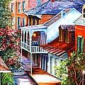 View From A Bourbon Street Balcony by Diane Millsap