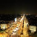 View From Arc De Triomphe - Paris France - 011318 by DC Photographer