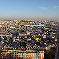 View From Basilica Of The Sacred Heart Of Paris - Sacre Coeur - Paris France - 011330 by DC Photographer