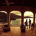 View From Hawks Nest Villa In Virgin Islands by Carl Purcell