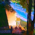 View From My Window On A Summer Afternoon  B-15 by Diane Strain