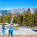 View From Near The Top Of Sentinel Dome In Yosemite Np-ca by Ruth Hager