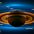 View From Saturn By Nasa's Cassini Spacecraft by Ram Vasudev
