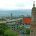 View From Temple Of The Dawn-wat Arun In Bangkok-thailand by Ruth Hager
