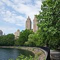 View From The Park West Side by Carol Ailles