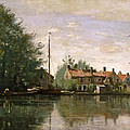 View In Holland by Jean-Baptiste-Camille Corot